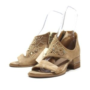 AS98 Mace Ankle Strap Sandals Studs Leather